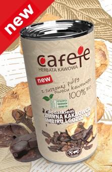 Cafete herbata kawowa - z dodatkiem ziarna kakaowca, imbiru i goździka